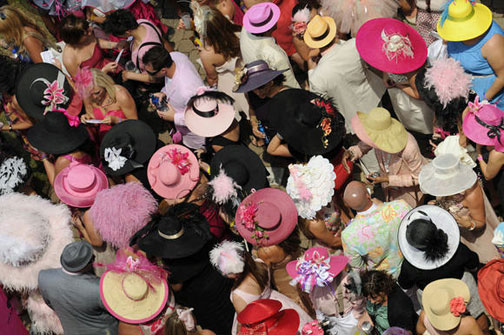 Hat-A Tude hats at the Kentucky Oaks 2011
