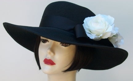 "Black 4"" Picture/White Rose"