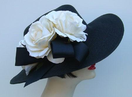 """Black 4"""" Picture/Cream Rose"""