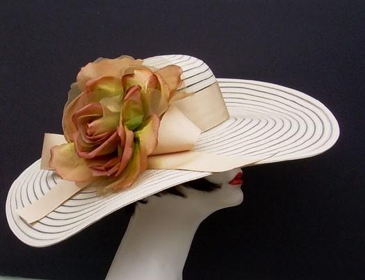 """Tan 6"""" Brim/HH/Bronze Rose"""