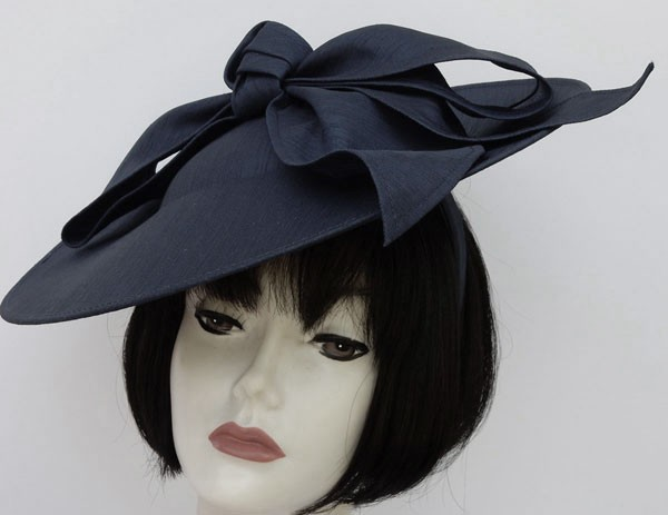Dark Navy Bow Fascinator 86ee09124f8