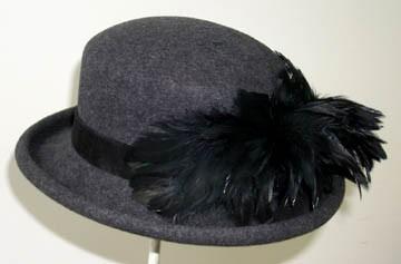 Grey Derby/Black Feathers