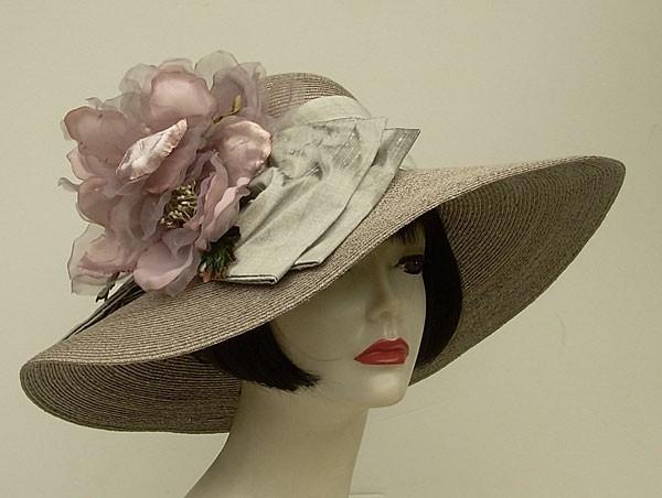 """Grey Milan 5"""" Brim/Lavender Magnolia"""