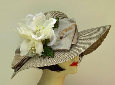 """Grey Milan 5"""" /Ivory Magnolia"""