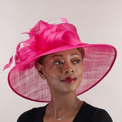 Hot Pink Derby Hat