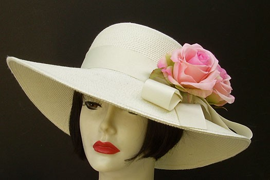 """Ivory 4"""" Picture/Pink Rose"""