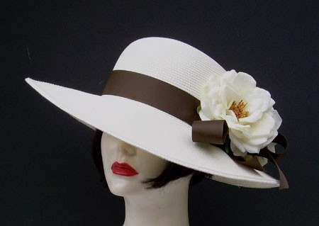 "Ivory 4"" Picture/Brown/Roses"