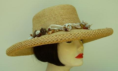 Natural Crochet Raffia/Seashell