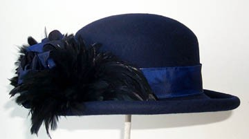 Navy Derby/Black Feathers