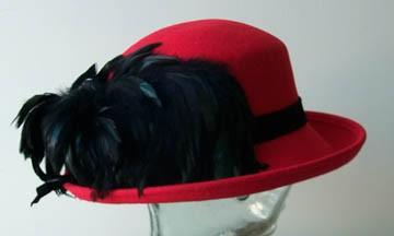 Red Breton/ Black Feathers