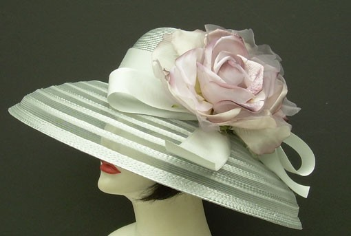 Silver Grey Sheer Breton/Lavender Rose