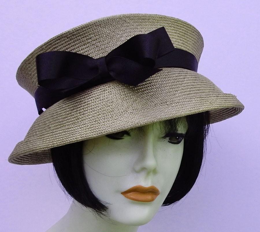 Taupe Travel Hat-Black
