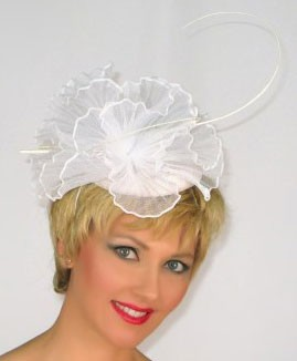 White Butterfly Fascinator