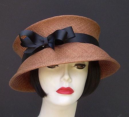 Brown Travel Hat-Black Ribbon