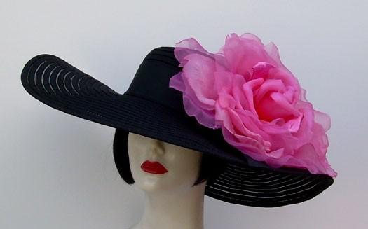 "Black 6"" /HH/ XL Pink Rose"