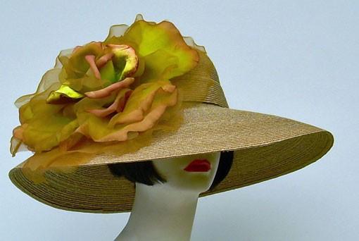 """Taupe 6"""" Milan/XL Gold Rose"""