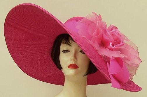 "Hot Pink 8"" Brim/XL Rose"