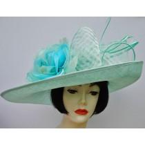Aqua Dress Derby Hat
