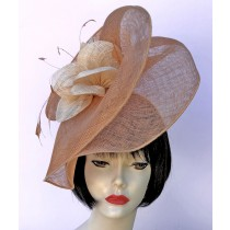 Beige-Camel Fascinator