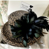 Cheetah Print Velour Felt- Black