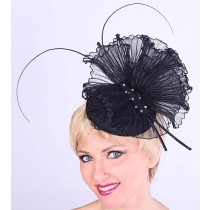 Black Butterfly Fascinator
