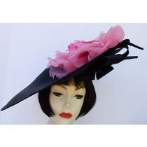 Black Large Profile-Pink Rose