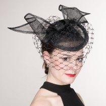 Black Net Fascinator