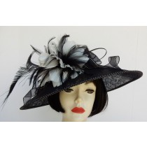 Black-White Feather Fascinator