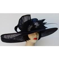 Black Wide Brim Derby Hat
