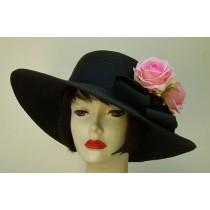 "Black 4"" Picture/Pink Rose"