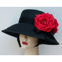 "Black 4"" Picture/Red Rose"