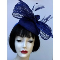 Royal Blue Bow Fascinator