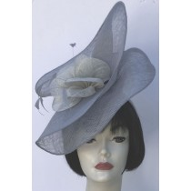 Blue-Grey-Silver Fascinator