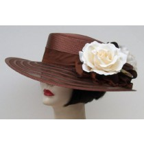 "Brown Sheer 4"" Gambler/ Rose"