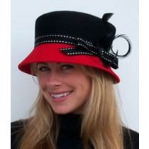 Red/Black Lamp/Red Brim