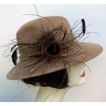 Camel Fedora/ Feather Wisps