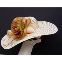 "Tan 6"" Brim/HH/Bronze Rose"