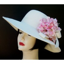 """Ivory 4"""" Picture/Pink Hydrangea"""