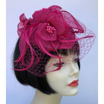 Hot Pink Net Fascinator