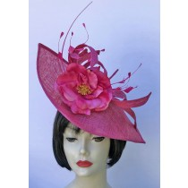 Fuchsia-Pink Small Fascinator