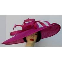 Fuchsia Wide Brim Loop Hat