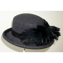 Grey Derby/Black Feathers