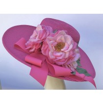 Hot Pink Rose Hat