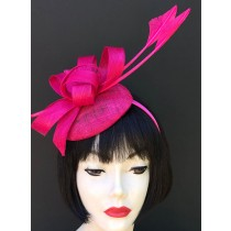 Hot Pink Feather Fascinator