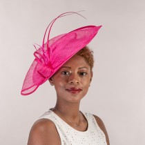 Hot Pink Large Fascinator