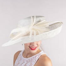 Ivory Dress Derby Hat