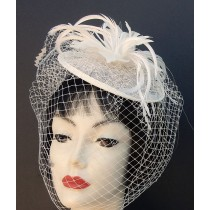 Ivory Feather Fascinator