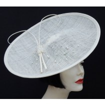 Ivory Pearl Large Fascinator