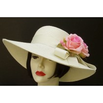 "Ivory 4"" Picture/Pink Rose"