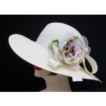 "Ivory 4"" Picture/ Ivory Fuchsia Rose"